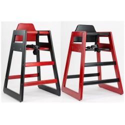 Chaises Eurobambino DUO, couleur rouge/noire (Lot de 2 chaises)