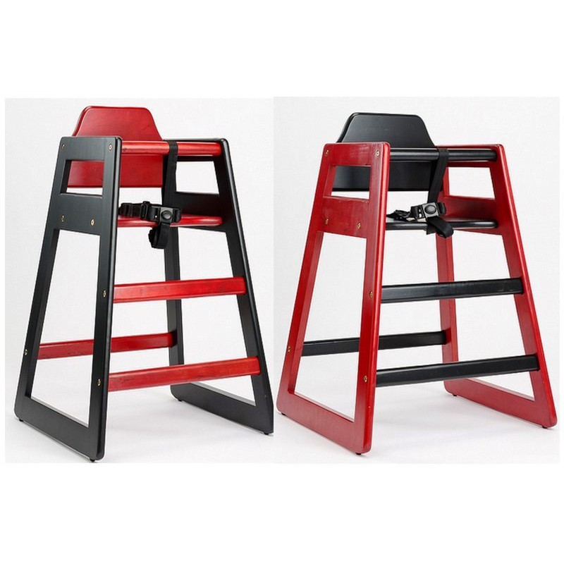 chaises eurobambino en bois duo couleur rouge noire lot de 2 chaises kodif. Black Bedroom Furniture Sets. Home Design Ideas