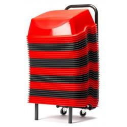 Pack 1 Chariot et 36  Rehausseurs de Sièges Cinéma Rouges & Gris