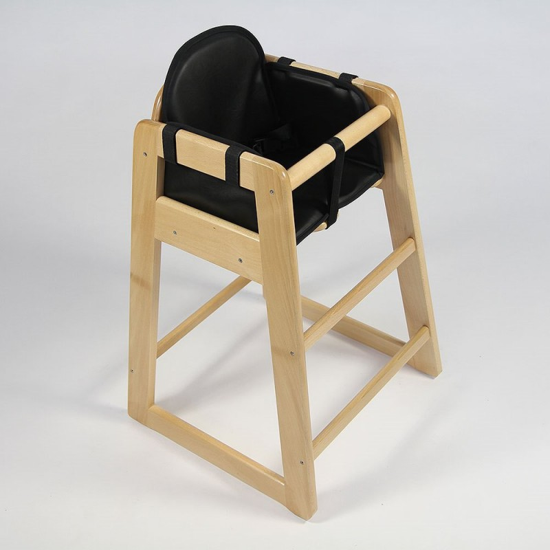 Coussin En PVC Noir Pour Chaise Haute