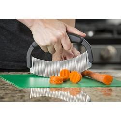 Couteau à  légumes lame ondulée (Lot de 2)